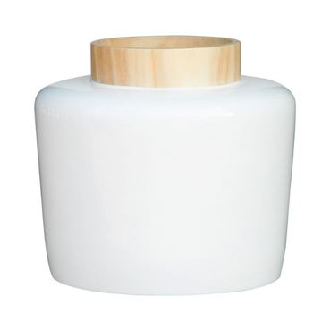 Picture of Wooden Neck Vase White