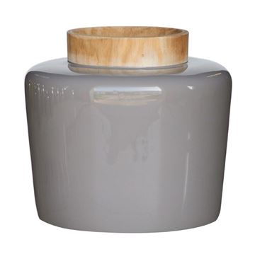 Picture of Wooden Neck Vase Grey