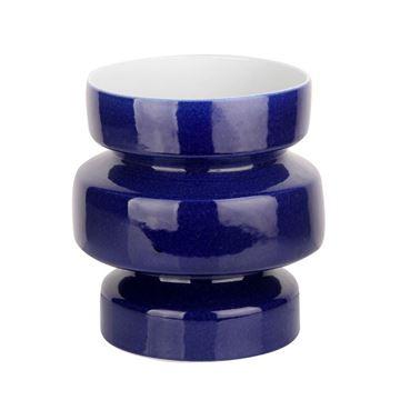 Picture of Canola Blue Ceramic Fat Vase