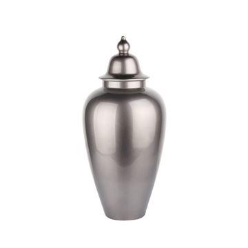 Resim Kapaklı Seramik Vazo 50cm