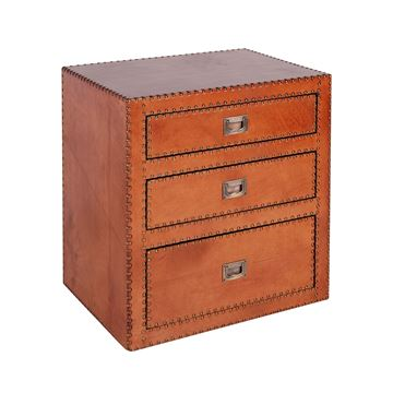 Picture of Sheppard 3 Drawers Commode Light Brown