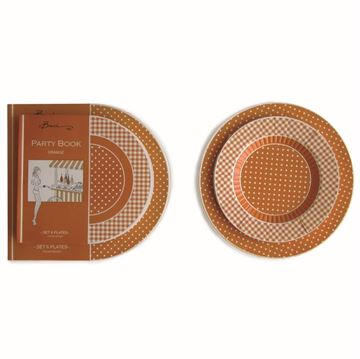 Picture of Orange Meal Plate set of 6