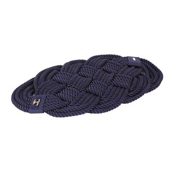 Picture of Oval Mat  Navy Blue