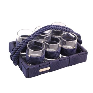 Picture of Rope Liquor Set Navy Blue