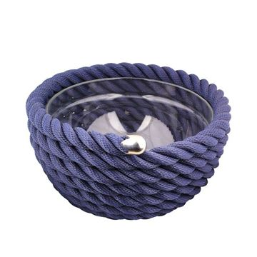Picture of Round Bowl Navy Blue Q:35 cm