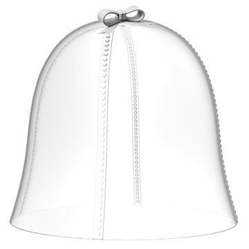 Resim Fiyonklu Kapak Q:27 cm -Beyaz