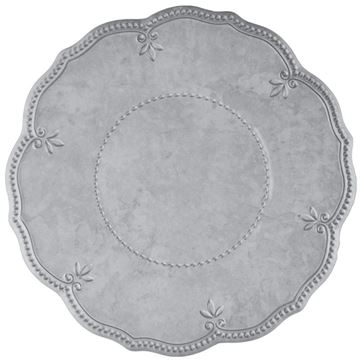 Picture of Set of 6 Dinner Plate 28 cm - Grey