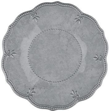 Picture of Set of 6 Dessert Plate - Grey