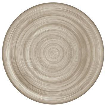Resim 6'lı Yemek Tabağı Taupe 28 cm