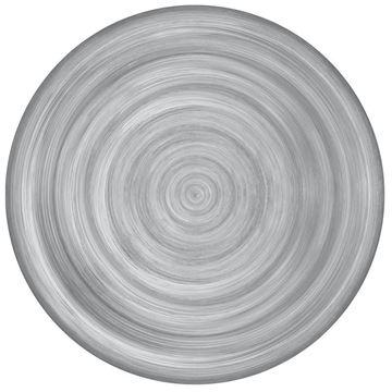 Resim 6'lı Yemek Tabağı Gri 28 cm