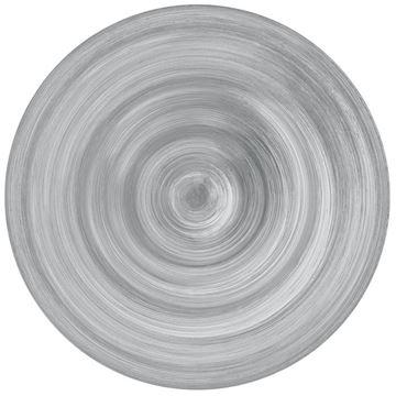 Resim 6'lı Tatlı Tabağı Gri 23 cm