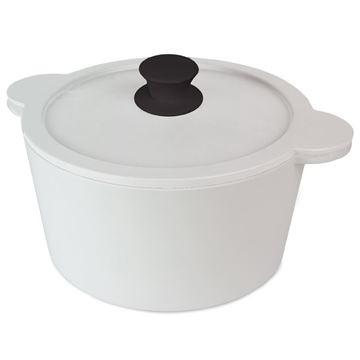 Resim Kapaklı Servis Kabı Q:25 cm Beyaz