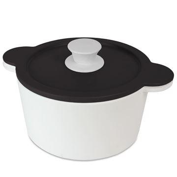Resim Kapaklı Servis Kabı Q:20 cm Siyah