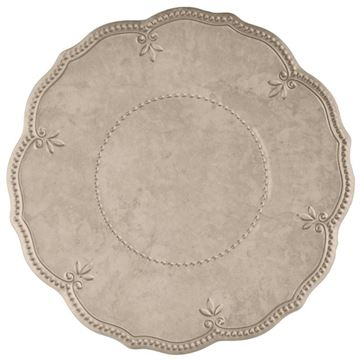 Picture of Set of 6 Dinner Plate 28 cm- Taupe