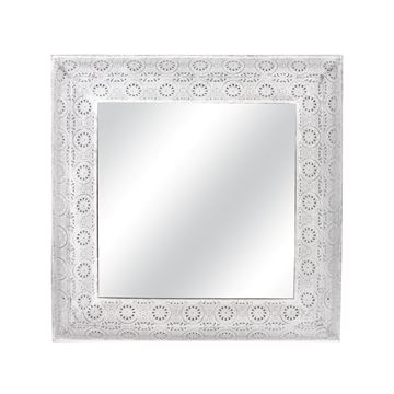 Picture of White Metal Antique Mirror