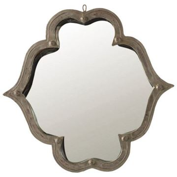 Picture of ANGELINA DECORATIVE HALL MIRROR, METAL