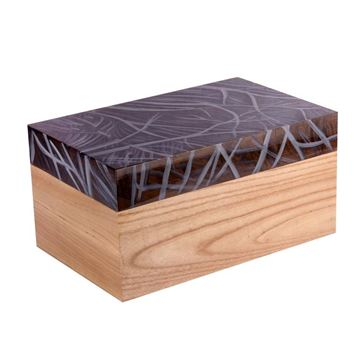 Picture of Wooden Brown Box 18cm