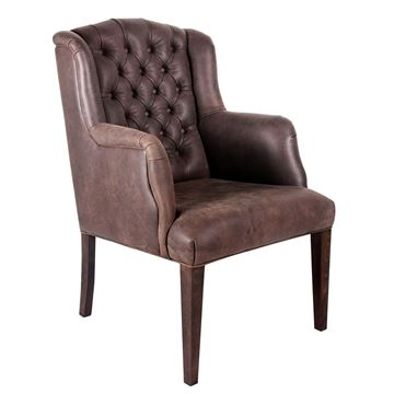Picture of Ford Leather Dining Chair Lead
