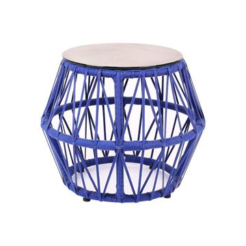 Picture of Cross Side Table Blue