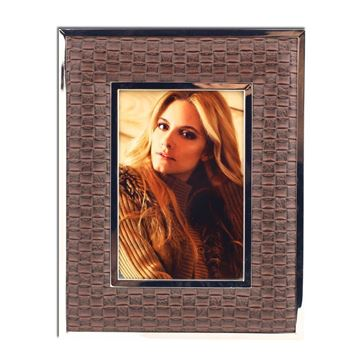Picture of Brown Leather Picture Frame Big 15 cm