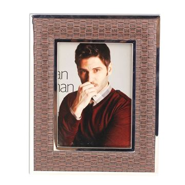 Picture of Brown Leather Picture Frame Big 18 cm