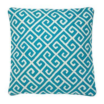 Resim Yastık Mavi Beyaz Desenli 50x50 cm