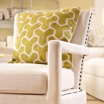Resim Yastık Yeşil Beyaz  50x50 cm