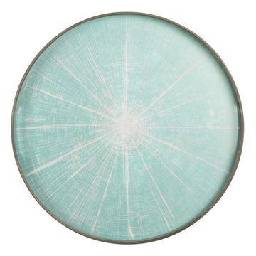 Resim Tepsi Blue Slice Q:48 cm