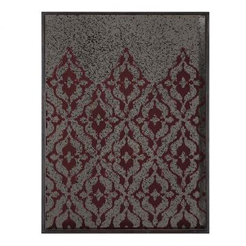 Picture of Tray Burgundy Ikat 61x46 cm