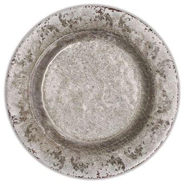 Resim 6'lı Tatlı Tabagı Q:22 cm Bronz