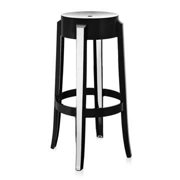 Picture of Charles Ghost Stool Gloss Black