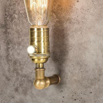 Picture of FACTORY SCONCE IN AGED BRASS