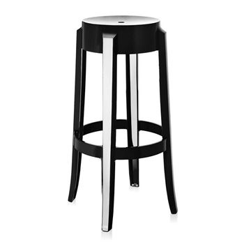 Picture of Charles Ghost Stool Glossy Black H:65 cm