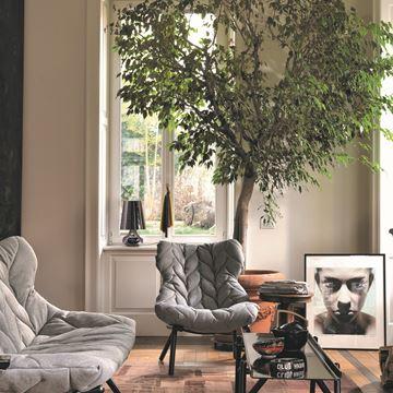 Resim Foliage Koltuk Siyah/Gri Kumaş