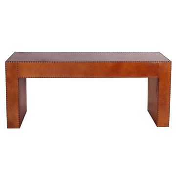 Picture of Sheppard Leather Console Light Brown