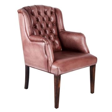 Picture of Ford Leather Dining Chair Lampre