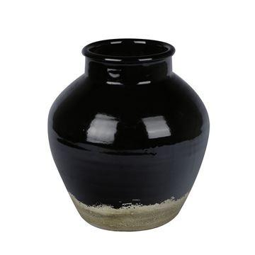 Resim Vazo Siyah 34 cm