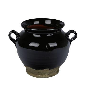 Resim Vazo Siyah 30 cm