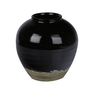 Resim Vazo Siyah 29,5 cm
