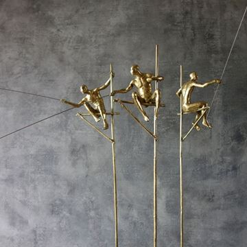 Picture of Fishermen  Sculpture Gold