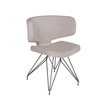 Resim Yemek Sandalyesi Gri