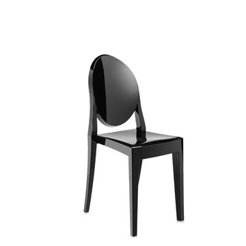 Picture of Victoria Ghost Chair Shiny Black