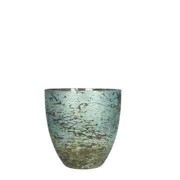 Resim Mumluk Mavi H:16.5 cm