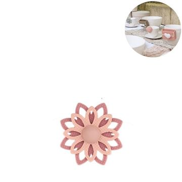 Picture of Cup Accessory Flower Peach