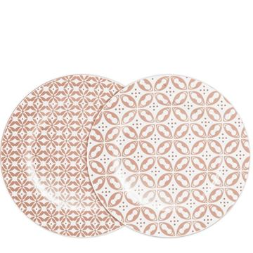 Picture of Tiles Set of 2 Dessert Plate Peach 2