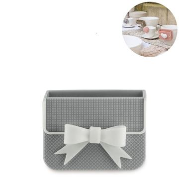 Picture of Cup Accessory Ribbon Biscuit Box Grey