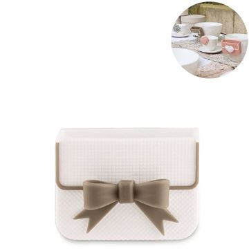 Picture of Cup Accessory Ribbon Biscuit Box White