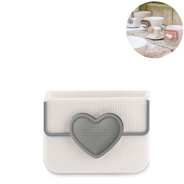 Picture of Cup Accessory Heart Biscuit Box Grey