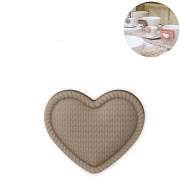 Picture of Cup Accessory Heart Taupe