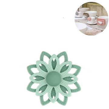 Picture of Cup Accessory Flower Light Green